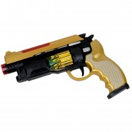 Hobtoys Oyuncak Altıpatlar Tabanca Hareketli Silah Sesli Işıklı 26 Cm