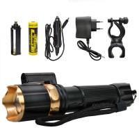 Kama Star KM-109 LED Lazerli El ve Tüfek Feneri Şarjlı