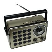 Kemai MD-1175BT Şarjlı Radyo Retro Ahşap MP3 Çalar 20 Cm