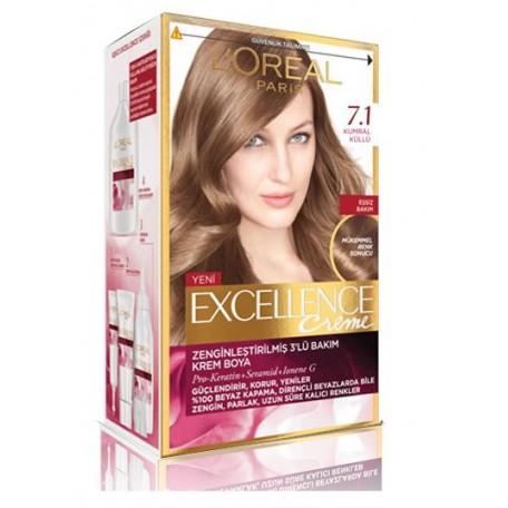 Loreal Excellence Creme 7.1 Kumral Küllü Saç Boyası