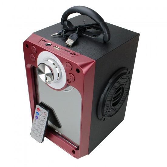 MN-03 Bataryalı Şarjlı Bluetooth Dekoratif Aynalı FM Radyo