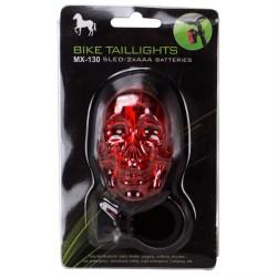 MX-130 5 LED Bisiklet Stop Lambası Kurukafa