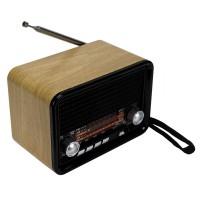 NNS NS-1537BT Şarjlı Radyo Retro Ahşap MP3 Çalar 14 Cm