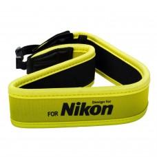 Nikon Fotoğraf Makinesi Askı Kayışı Sarı