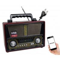 Nostaljik Ahşap Bluetooth Hoparlör Radyo Retro USB MP3 27cm
