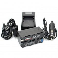 PDX Sony NP-F750 Batarya ve Şarj Aleti Dijital Göstergeli
