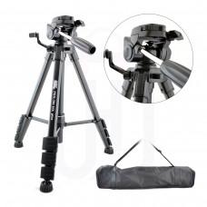 Profesyonel 149cm Hidrolik DSLR Tripod Canon Nikon Sony + Cep Telefonu