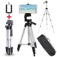 Profesyonel Kamera ve Cep Telefonu Tripodu 111 Cm Su Terazili