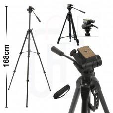 Profesyonel Tripod 168cm DSLR Tripot Canon Nikon Sony
