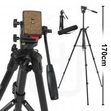 Profesyonel Video Tripod 170cm DSLR Tripot Canon Nikon Sony