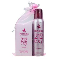 Purixima 212 Exy Kadın EDT 50ml Parfüm ve Deo 150 ml Set