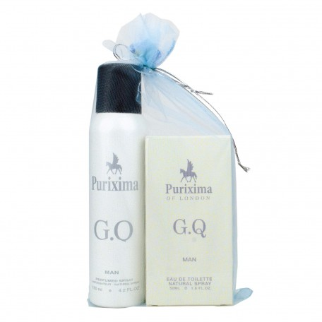 Purixima Of London G.Q. Erkek EDT 50ml Parfüm ve Deo 150 ml Seti