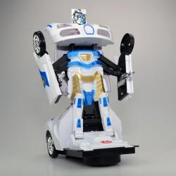 Transformers 2in1 Robota Dönüşen Işıklı, Sesli, Sensörlü Polis Arabası