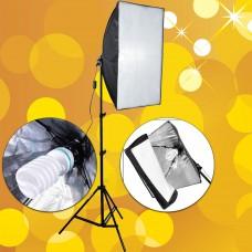 Softbox 50X70 Paraflaş Sürekli Işık Light Stand Ayaklı Set