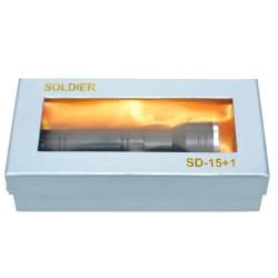 Soldier SD-15+1 Lazerli Güç Ayarlı El Feneri