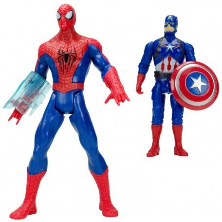Spider-Man vs Kaptan Amerika Sesli Işıklı Et Kemik Oyuncak Set
