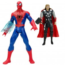 Spider-Man vs Thor Sesli Işıklı Et Kemik Oyuncak Seti