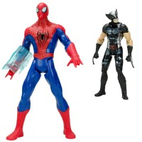 Spider-Man vs Wolverine Sesli Işıklı Et Kemik Oyuncak Seti