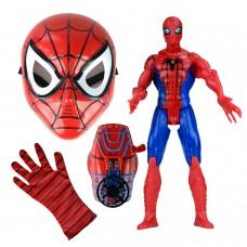 Spiderman Maskeli Oyuncak Seti Örümcek Adam