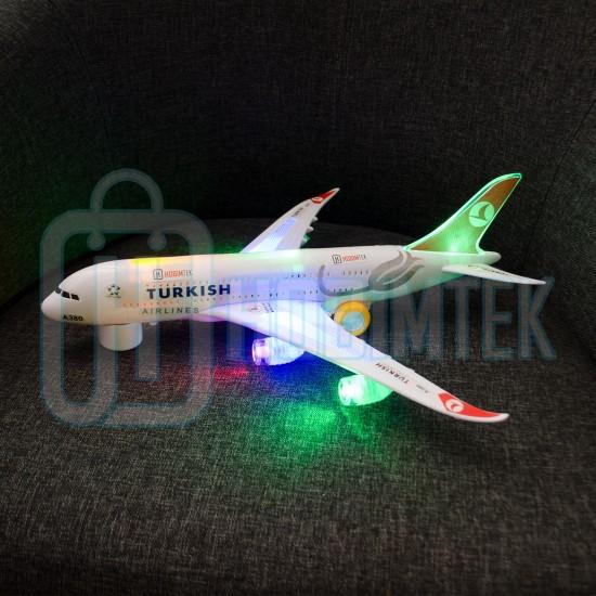 Türk Hava Yolları A380 Oyuncak Uçak Işıklı Hareketli 45 Cm