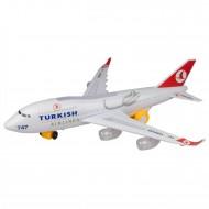 Türk Hava Yolları A747 Oyuncak Uçak Işıklı Hareketli Orta Boy