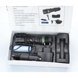 HD-27 LED El Feneri Alüminyum Metal Gövde Şarjlı Selektörlü