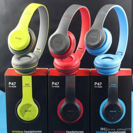 P47 Kulak Üstü Bluetooth Kulaklık 5.0