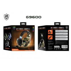 G9600 RGB Işıklı Oyuncu Kulaklığı Kamuflaj - Turuncu
