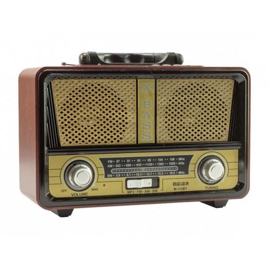 Meier M-112BT Vintage Bluetootlu Nostaljik Radyo Ahşap