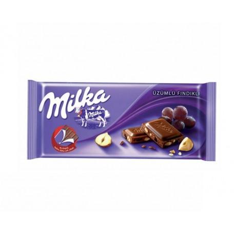 Milka Çikolata Üzümlü Fındıklı 80 Gr