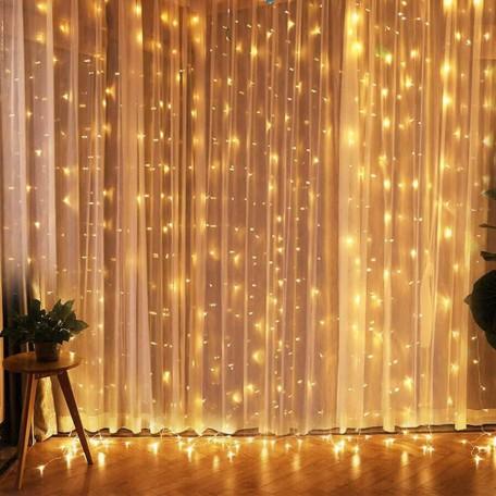 Dekoratif Led Işık Perde Işığı 10 Metre Süs Işığı